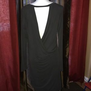 Draped back crossover dress